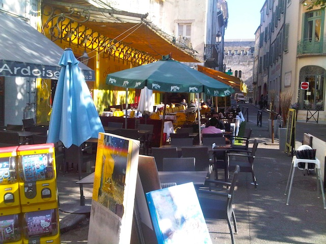 One day in Arles go to Cafe Van Gogh at Place du Forum