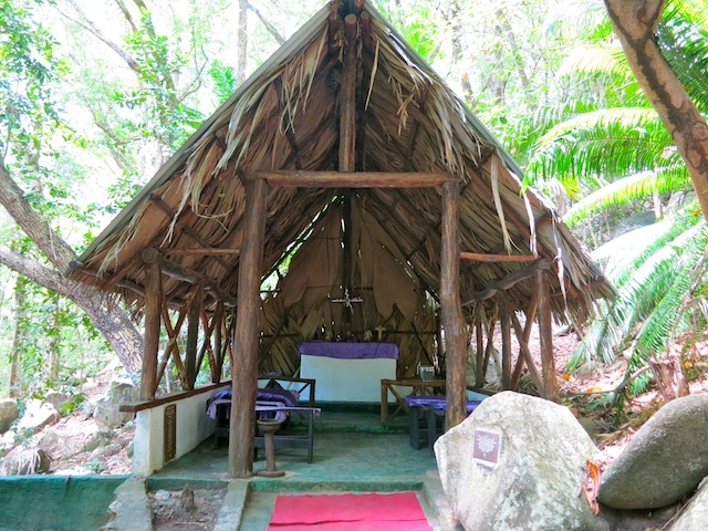 Seychelles islands Moyenne, chapel on deserted island