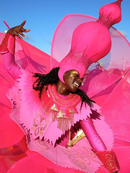 Notting Hill Carnival dancer in Seychelles