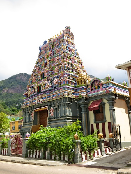 Hindu Temple in capital city Victoria Seychelles