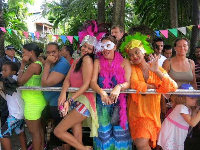Beautiful girls at Seychelles Carnival 2014