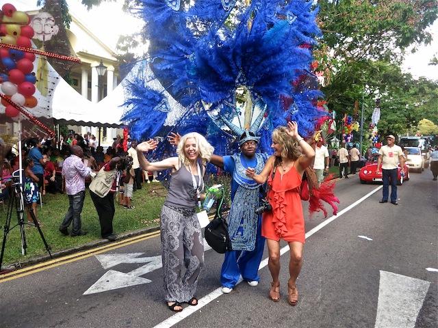 Girls dancing at Carnival