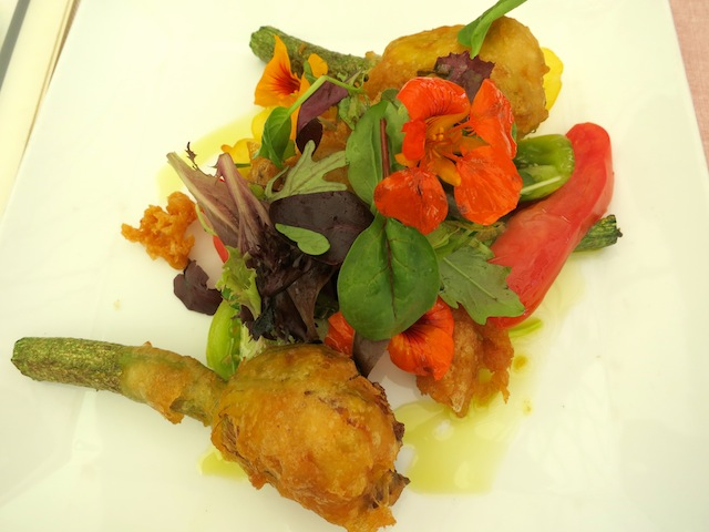 South of France dish stuffed courgette flowers