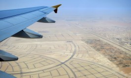 Flying over Abu Dhabi with Etihad Airways