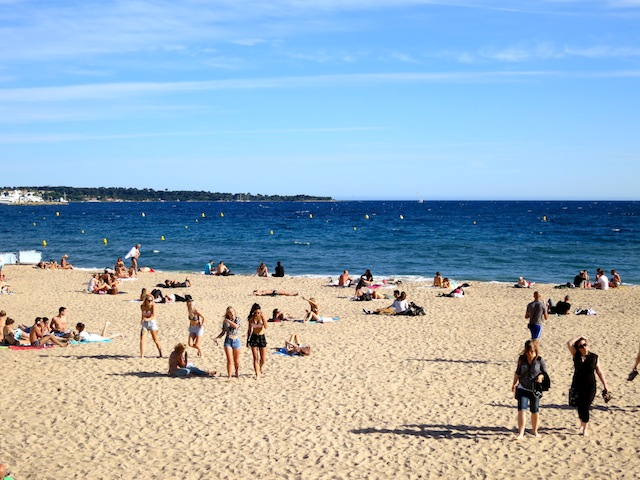 Beach in Cannes South of France