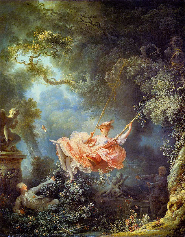 Jean-Honoré Fragonard painting of The Swing