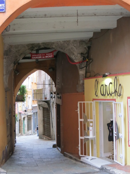 Arched doorway in Grasse France