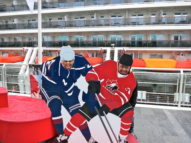 One day in Vancouver hockey photo ops at Canada Place