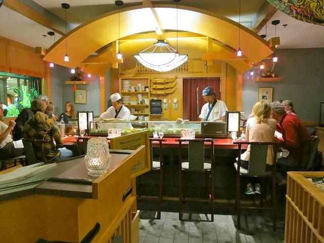 Sushi in Banff Canada at Fairmont Banff Springs Hotel