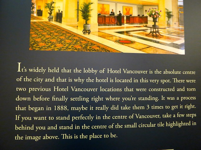 Fairmont Hotel Vancouver blog review lobby