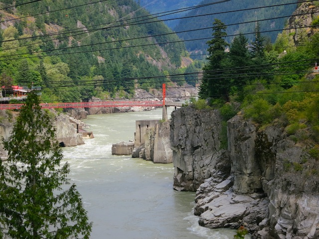 Hell's Gate on the Fraser River BC