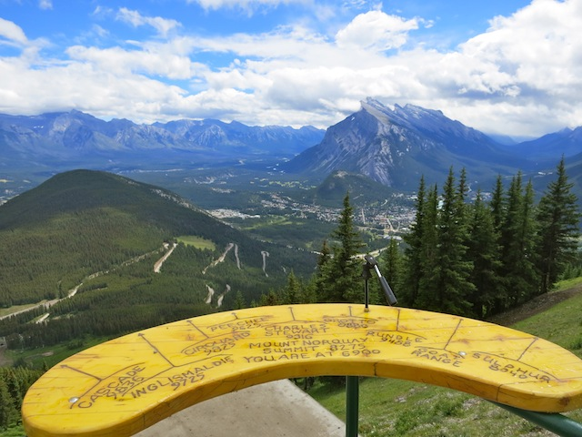 Channeling Marilyn Monre on Mount Norquay in the Canadian Rockies