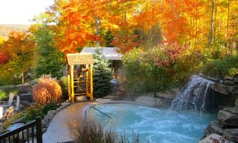 Leaf peeping in Quebec, Nordic Spa Natur'Eau