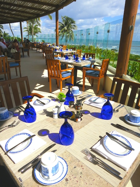 Grand Velas Riviera Maya food romance Azul restuarant