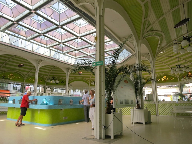 French spa town, Vichy, France, Hall des Sources