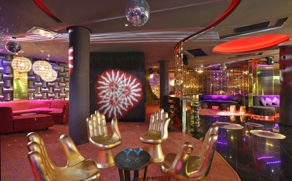 Luxury tropical island resorts Paradisus Palma Real's Red Lounge