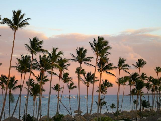Paradisus Palma Real Punta Cana beach at sunset