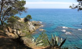 Costa Brava view one day in Lloret de Mar Spain
