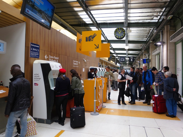 Paris to Barcelona train, ticket office Gare de Lyon