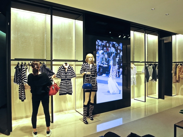 Footsteps of Chanel in Paris, inside the Chanel boutique
