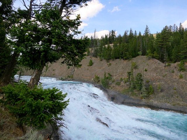 Bow Falls, Banff, Canada near Fairmont Banff Springs