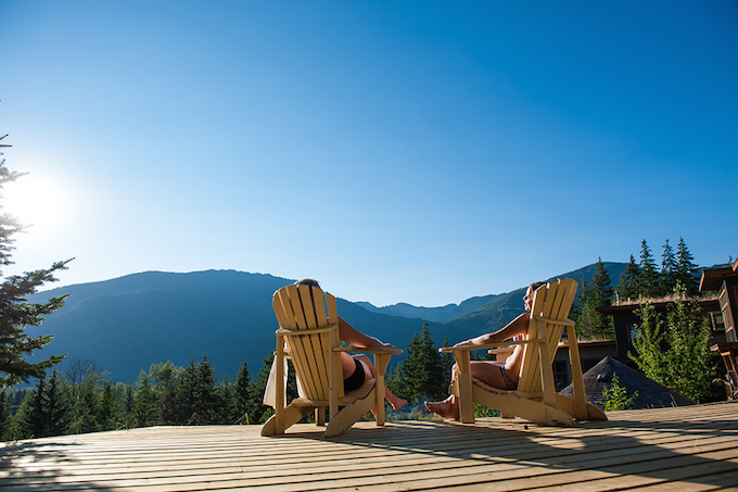 Scandinave Spa in Whistler for couples