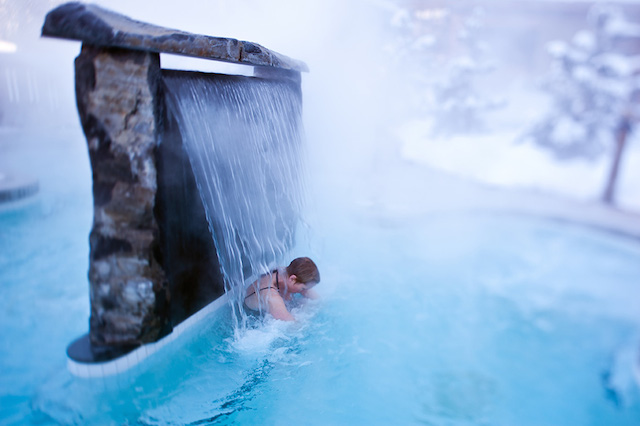 Scandinave Spa in Whistler reviews, Nordic waterfall
