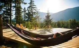 Scandinave Spa in Whistler reviews, hammocks