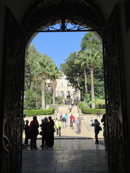 Mount of Beatitudes Gate, trip to the Holy Land