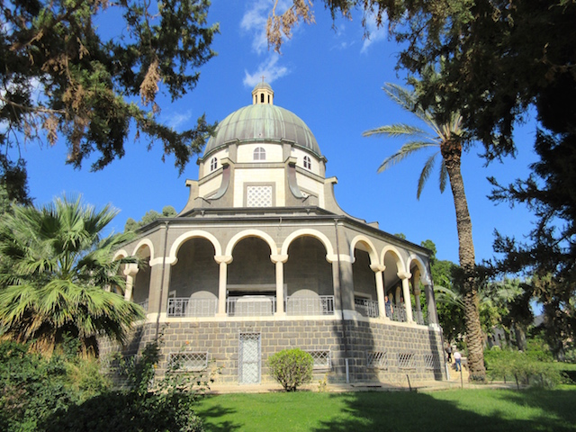 Visiting the Mount of Beatitudes Church