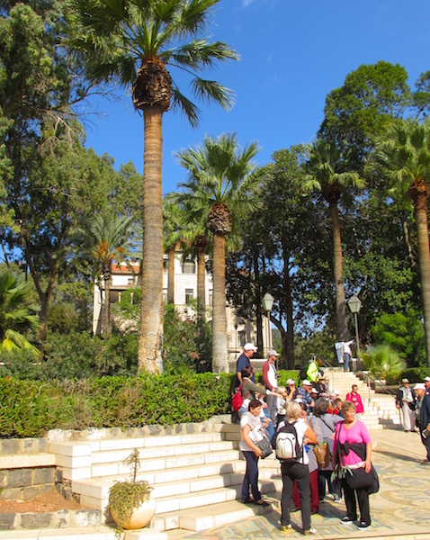 Visiting the Mount of Beatitudes crowd