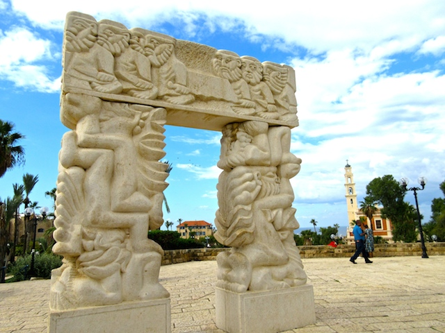 One day in Old Jaffa Tel Aviv, Gate of Faith