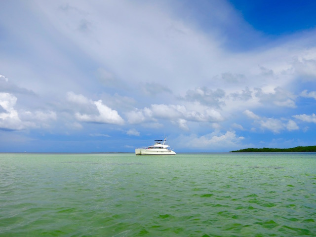 Boat in the Caribbean, affordable luxury