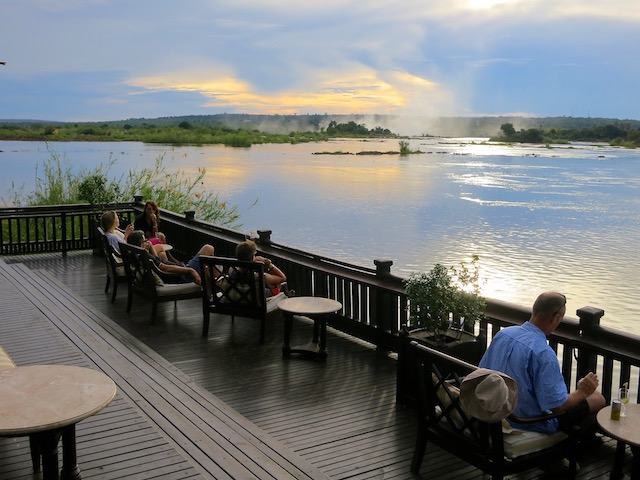 Royal Livingstone Hotel pictures, deck, best hotel in Victoria Falls