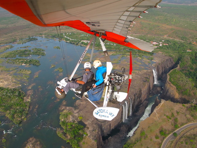 Victoria Falls activities, microlight flight