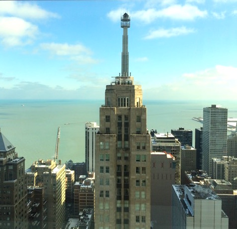 Weekend in Chicago, view from Four Seasons Hotel