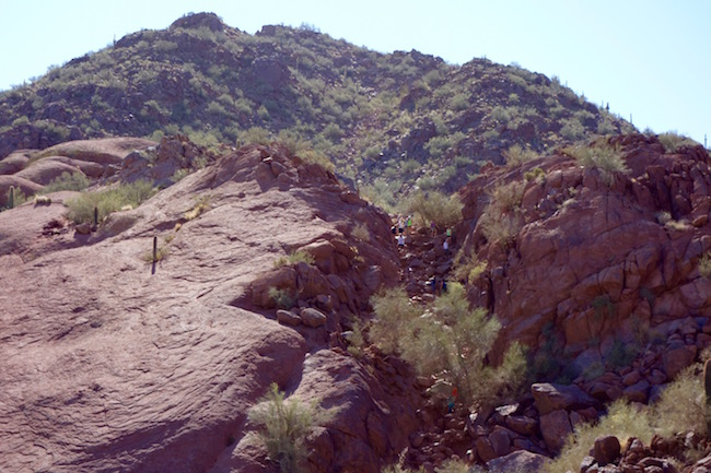 Camelback Mountain hike to the summit