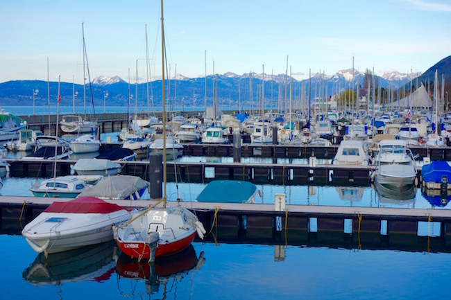 One day in Evian-les-Bains, marina