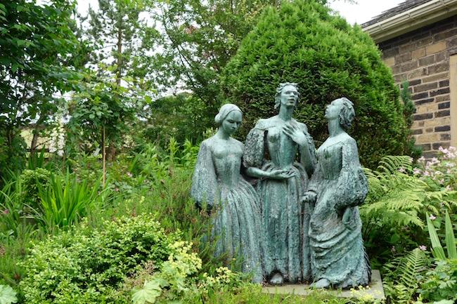 Bronte sisters statue Haworth England
