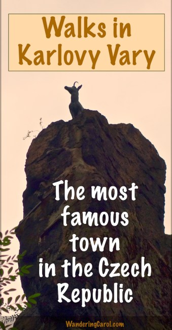 Hiking in Karlovy Vary Czech Republic Pinterest photo of chamois statue