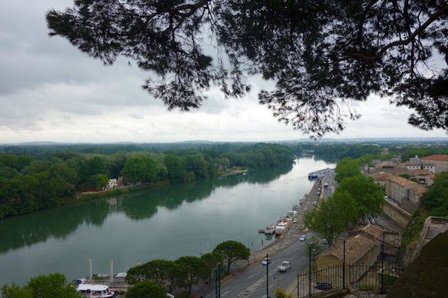 View of Rhones River from Avignon Cathedral