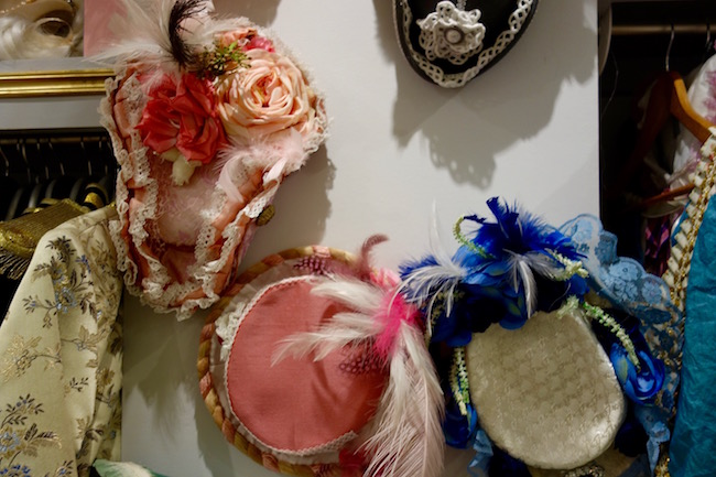 Handmade hats at Costumes & Chateaux Versailles