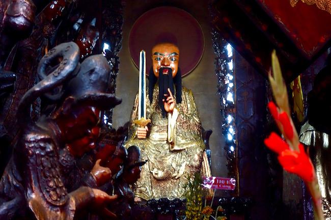 Statue at Jade Emperor Pagoda Saigon attraction