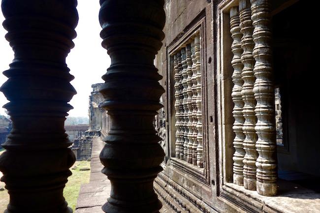 Columns at Angkor Wat