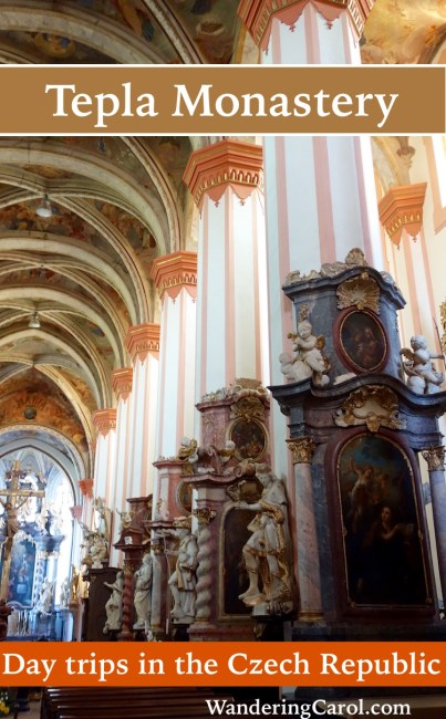 Tepla Monastery in the Czech province of Bohemia makes a great day trip from the Bohemian spa towns of Karlovy Vary, Marianske Lazne or even Prague.