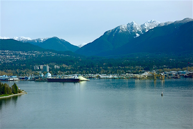 View from Pan Pacific Hotel Vancouver