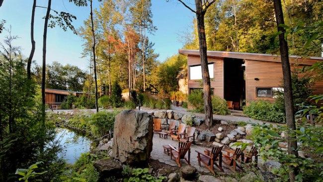 Nordic spa La Source Bains Nordiques near Montreal