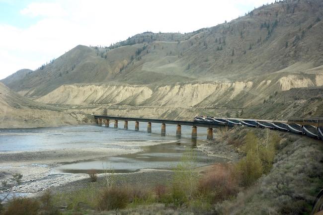 Luxury train Rocky Mountains