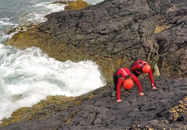 Coasteering, outdoor adventure Wales