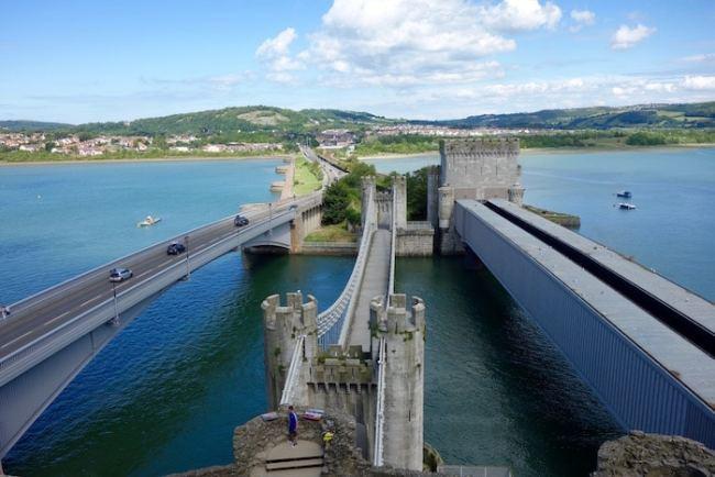 Suspension Bridge from Conwy Castle